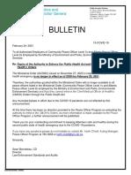 Jsg Peace Officer Bulletin 15 Covid 19 2021 02