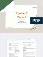 ALGEBRA 2 PROJECT