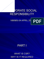 CORPORATE SOCIAL RESPONSIBILITY-NMIMS-PPT