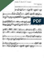Quantz Sonate pour traverso flûte à bec et continuo