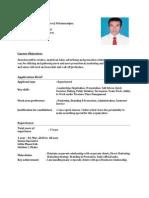 CV of partho
