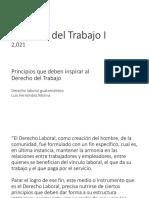 Principios laborales 2021