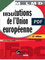 QCM - Les Institutions de l'Union Européenne à Jour Du Conseil Européen de Juin 2012 by Zarka, Jean-Claude