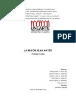 MISIÓN ALMA MATER Y LAS JORNADAS DE INVESTIGACIÓN UNEARTE (1)
