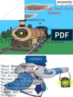 Railway Budget 2011-12 by Dilip Bhavel