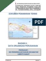 1. DOK PENAWARAN TEKNIS BAG A DATA ORGANISASI PERS LIMBOTO BARAT