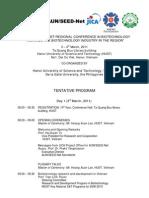 RC3BIO Tentative Program (update Feb. 27, 2011)