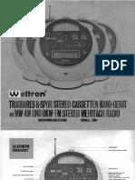 Weltron 2001 Instructions - German