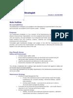 5.Role Outline- Maintenance Strategist