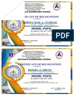 certificate of academic excellence 1st 2nd quarter