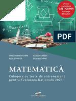 culegere teste evaluare nationala matematica