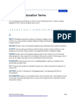 Glossary of Education Terms