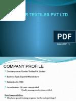 FRONTIER TEXTILES PVT LTD