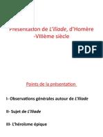 Présentation de L'Iliade, d'Homère (1)