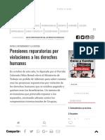 Pensiones reparatorias por violaciones a los derechos humanos - Caras y Caretas Política