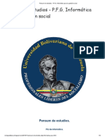 Pensum de estudios - P.F.G. Informática para la gestión social