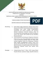 Keputusan Menteri Kesehatan No. HK.01.02./MENKES/12758/2021 tentang Penetapan Jenis Vaksin untuk Pelaksanaan Vaksinasi COVID-19