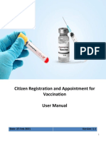 Citizen Registration and Appointment For Vaccination