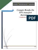 TP TRANSFERT conduction