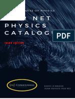 CATALOGUE OF PHYSICS CSIR NET BY RAHUL R SEKHAR