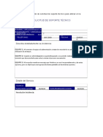 Informe planeacion del soporte tecnico