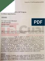 Carta Javier Troconis acepta propuesta Petropar