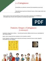 Fenícios, Gregos e Cartagineses_____Romanos