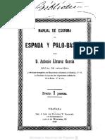 Manual de esgrima de espada y palo-baston Textoimpreso