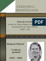 Geriatria e Gerontologia e Epidemiologia do Envelhecimento
