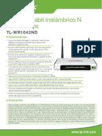 Tl-wr1042nd v1 Datasheet Es