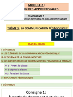 COMMUNICATION PEDAGOGIQUE