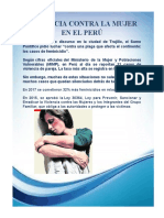 Violencia Contra La Mujer en El Perú-editorial