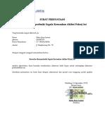 Surat Pernyataan Kerusakan (sample)