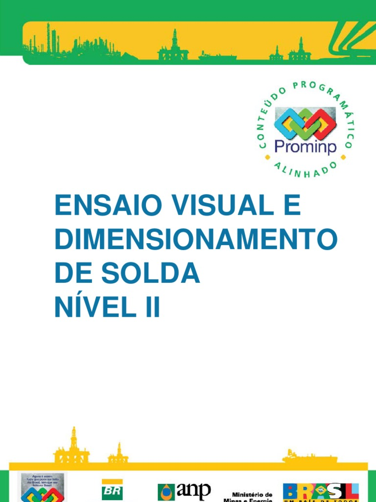 Ensaio Visual e Dimension Amen To de Solda n2 PROMIMP 1823f53688