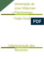 Apresentação Visão Geral Adminstração de Materiais
