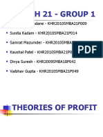 THEORIES OF PROFIT