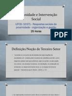 10371 - Respostas sociais de proximidade - organização e gestão-I