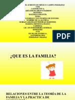 QUE ES LA FAMILIA Y TEORIAS DE ESTUDIO DORIAN Y MARISSA