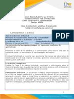 Guía de Actividades y Rúbrica de Evaluación - Tarea 3 - Escuchar Para Comunicar