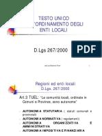 ordinamento autonomie locali
