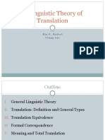 A Linguistic Theory of Translation - C1-5