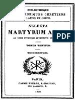 Selecta martyrum acta tomus tertius