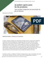 Artesãos Karajá Pedem Apoio Para Comercialização de Produtos - O Girassol