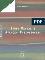Saude Mental e Atencao Psicosso - Paulo Amarante