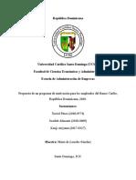 Propuesta de un programa de motivación para los empleados del Banco Caribe, República Dominicana, 2020.