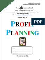 PROFIT PLANNING BOOK 21102010