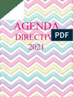 agenda directiva rayada 2021