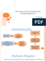 (Aula 06) Técnicas de Análise de Investimento - Payback