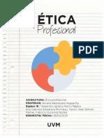 Actividad 2 Cuestionario Etica profesional