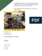 Document Final de La Xveme Assemblee Generale Ordinaire Sur Les